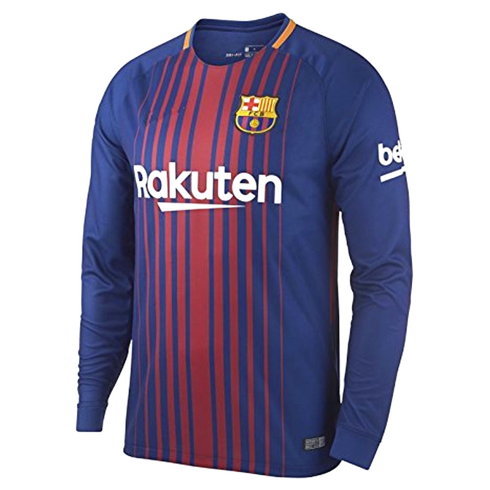 best sneakers 4be68 0842d Nike FC Barcelona 'COUTINHO' '17-'18 Long Sleeve Home Soccer Jersey (Deep  Royal Blue/University Gold)