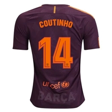 Nike FC Barcelona 'COUTINHO' '17-'18 Third Soccer Jersey (Night Maroon/Hyper Crimson)