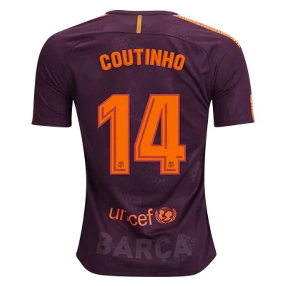 a66bc27d0 Nike FC Barcelona  COUTINHO   17- 18 Third Soccer Jersey (Night ...