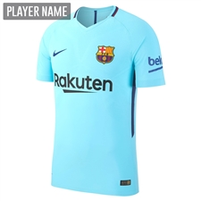 Nike FC Barcelona Away '17-'18 Soccer Jersey (Polarized Blue/Deep Royal Blue)