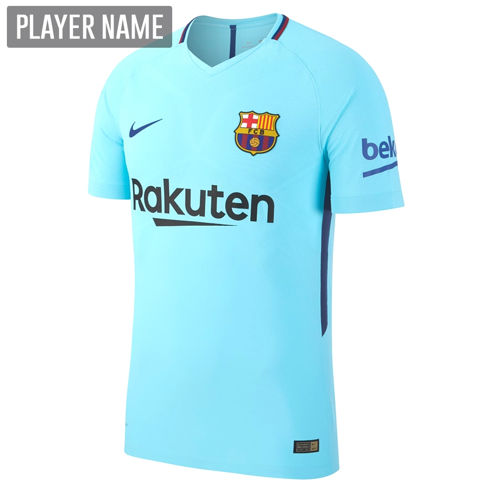 1ba580305 Nike FC Barcelona Away  17- 18 Soccer Jersey (Polarized Blue Deep ...