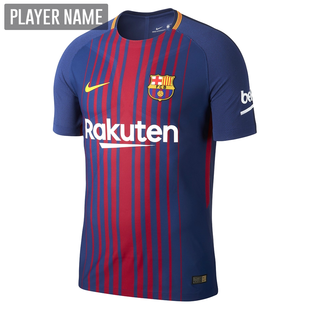 3204e10a Nike FC Barcelona '17-'18 Home Soccer Jersey (Deep Royal Blue ...