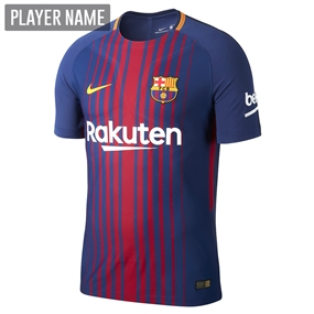 Nike FC Barcelona '17-'18 Home Soccer Jersey (Deep Royal Blue/University Gold)