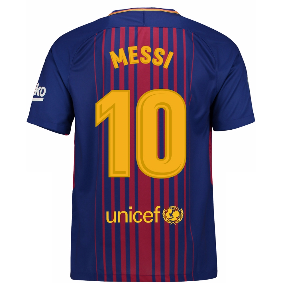 47c231ac33c ... Nike FC Barcelona  MESSI 10   17- 18 Home Soccer Jersey ...