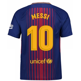 Nike FC Barcelona 'MESSI 10' '17-'18 Home Soccer Jersey (Deep Royal Blue/University Gold)