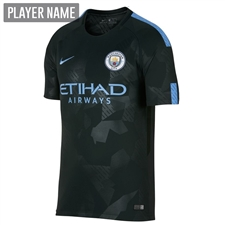 Nike Manchester City Third '17-'18 Stadium Soccer Jersey (Outdoor Green/Field Blue)