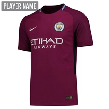 Nike Manchester City Away '17-'18 Soccer Jersey (True Berry/White)