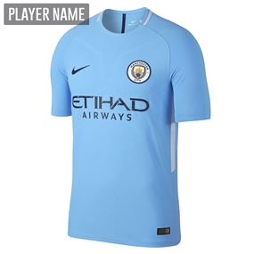 Nike Manchester City Home '17-'18 Stadium Soccer Jersey (Field Blue/Midnight Navy)