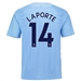 Nike Manchester City 'LAPORTE 14' Home '17-'18 Stadium Soccer Jersey (Field Blue/Midnight Navy)
