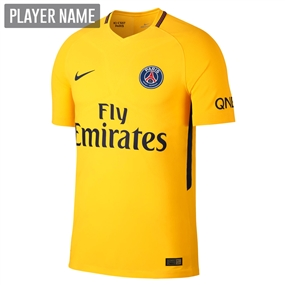 Nike Paris St. Germain Away '17-'18 Soccer Jersey (Tour Yellow/Midnight Navy)