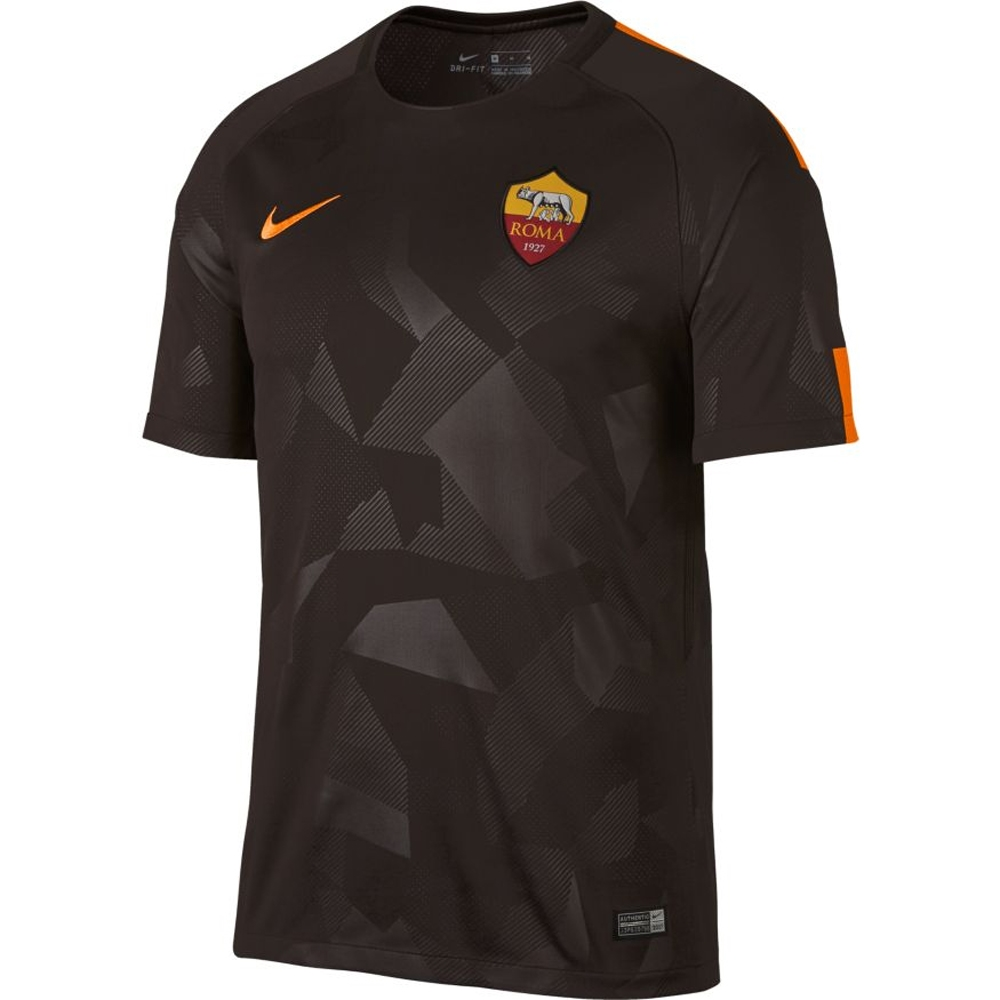 save off 3a8cd 8f179 Nike A.S. Roma Third '17-'18 Replica Soccer Jersey (Velvet Brown/Vivid  Orange)