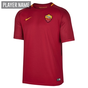 Nike A.S. Roma Home '17-'18 Replica Soccer Jersey (Team Crimsons/University Gold)