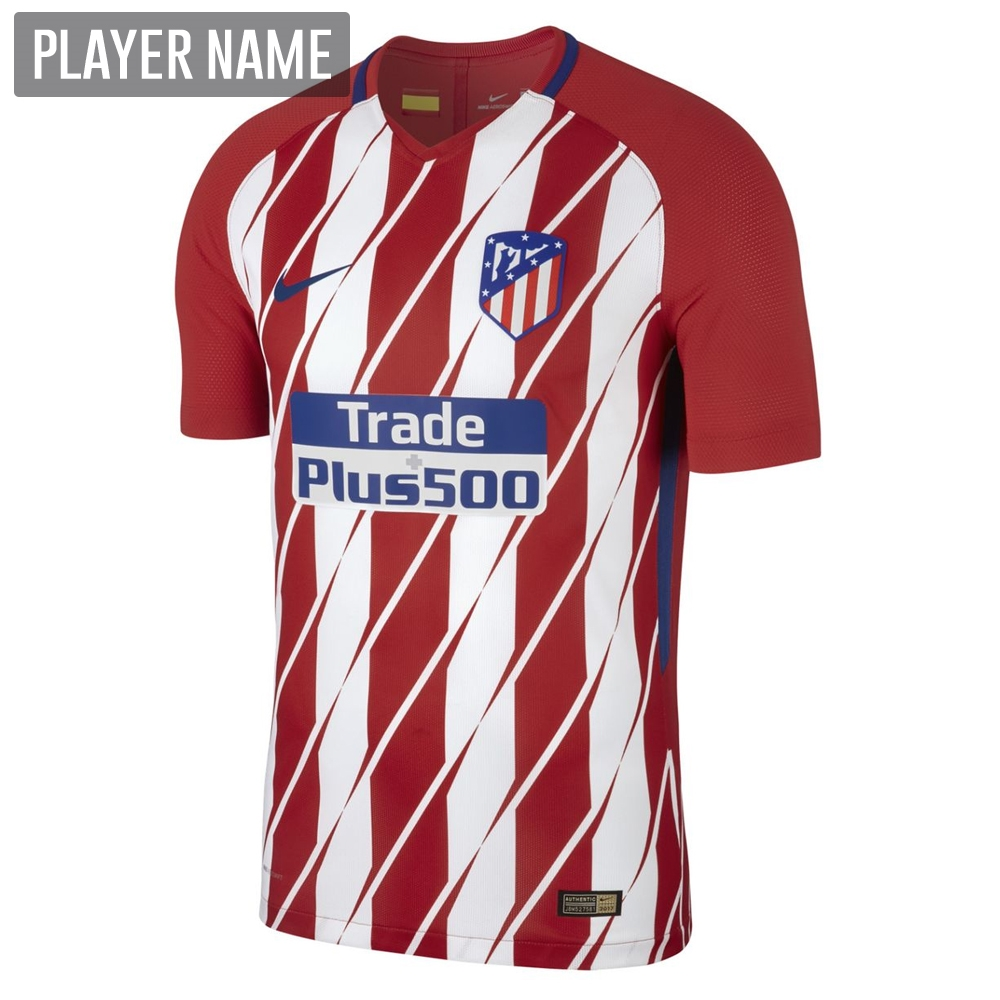 c13a16319 Nike Atletico Madrid Home  17- 18 Soccer Jersey (Sport Red White ...