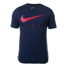 Nike USA 2017 Preseason Tee Shirt (Midnight Navy)