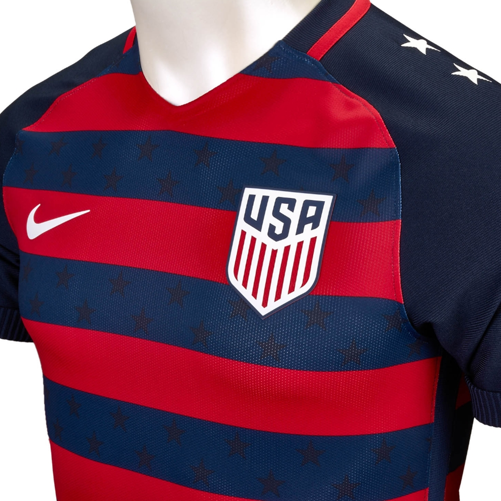 7392eec87b6 Nike USA Vapor Match Gold Cup 2017 Soccer Jersey (Midnight Navy University  Red White)