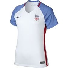 Nike Women's USA 2016 Home Stadium Soccer Jersey (White/Game Royal/Midnight Navy)
