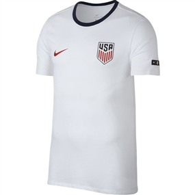Nike Men's USA Crest Ringer T-Shirt (White/Midnight Navy)