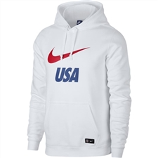 Nike USA Crest Hoodie (White/University Red)