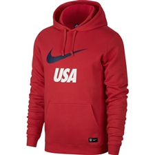 Nike USA Crest Hoodie (University Red/Midnight Navy)