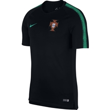 Nike Men's 2018 FIFA World Cup Portugal Training Top (Black/Kinetic Green)