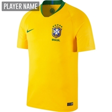Nike Brazil Home Stadium Jersey '18-'19 (Midwest Gold/Lucky Green)