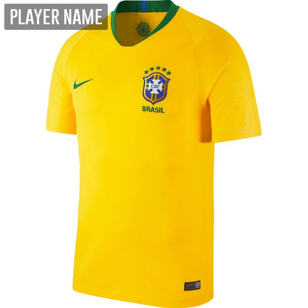 f085966c47a Nike Brazil Home Stadium Jersey  18- 19 (Midwest Gold Lucky Green ...