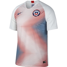 Nike Chile Away Stadium Jersey '18-'19 (White/Gym Blue)