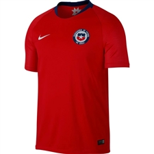 Nike Chile Home Stadium Jersey '18-'19 (Chile Red/White)