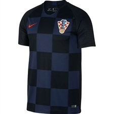 Nike Croatia Away Stadium Jersey '18-'19 (Black/Midnight Navy/Challenge Red)