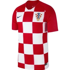 Nike Croatia Home Stadium Jersey '18-'19 (University Red/White/Deep Royal Blue)