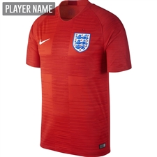 Nike England Away Stadium Jersey '18-'19 (Challenge Red/Gym Red/White)