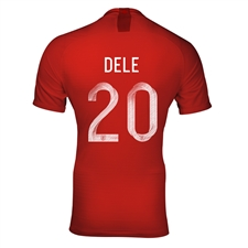Nike England 'DELE 20' Away Stadium Jersey '18-'19 (Challenge Red/Gym Red/White)