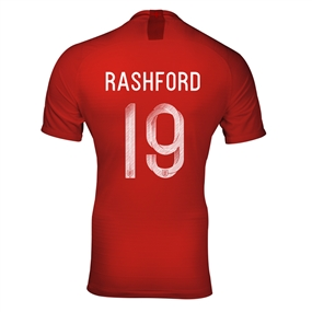 Nike England 'RASHFORD 19' Away Stadium Jersey '18-'19 (Challenge Red/Gym Red/White)