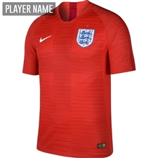 Nike England Away Vapor Match Jersey '18-'19 (Challenge Red/Gym Red/White)