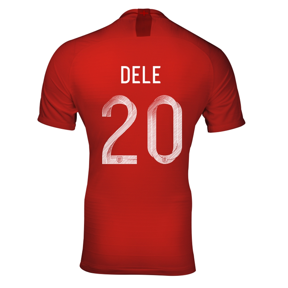 detailed look 67408 3e4d3 Nike England 'DELE 20' Away Vapor Match Jersey '18-'19 (Challenge Red/Gym  Red/White)