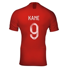 Nike England 'KANE 9' Away Vapor Match Jersey '18-'19 (Challenge Red/Gym Red/White)