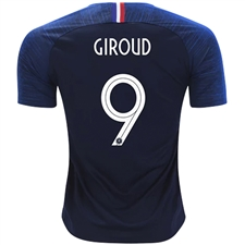 Nike France 'GIROUD 9' Home Stadium Jersey '18-'19 (Obsidian/White)