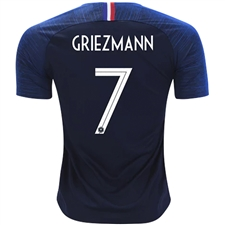Nike France 'GRIEZMANN 7' Home Stadium Jersey '18-'19 (Obsidian/White)