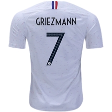 Nike France 'GRIEZMANN 7' Away Vapor Match Jersey '18-'19 (White/Obsidian)