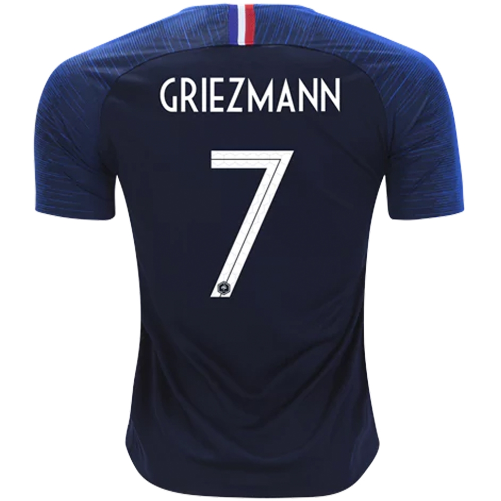 factory price c90ac 73603 Nike France 'GRIEZMANN 7' Home Vapor Match Jersey '18-'19 (Obsidian/White)