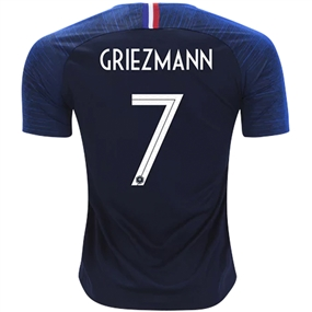 Nike France 'GRIEZMANN 7' Home Vapor Match Jersey '18-'19 (Obsidian/White)