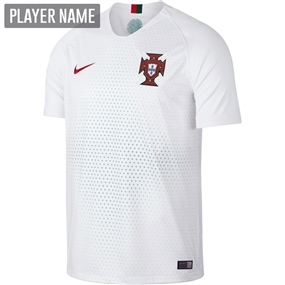 Nike Portugal Away Stadium Jersey '18-'19 (White/Gym Red)
