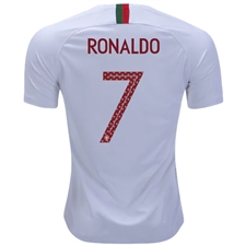 Nike Portugal  RONALDO 7  Away Stadium Jersey  18- 19 (White ... 1f1ab1959