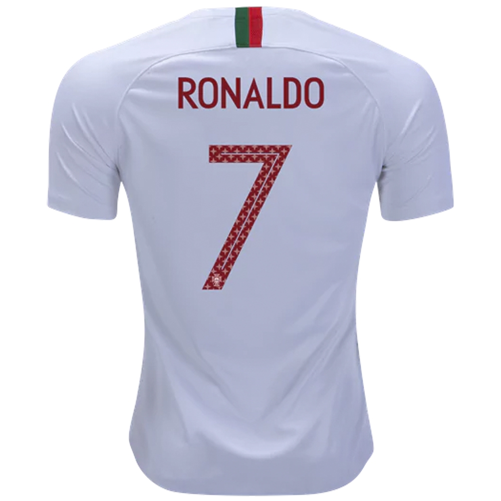 release date: 2c3d4 8c2c9 Nike Portugal 'RONALDO 7' Away Stadium Jersey '18-'19 (White/Gym Red)