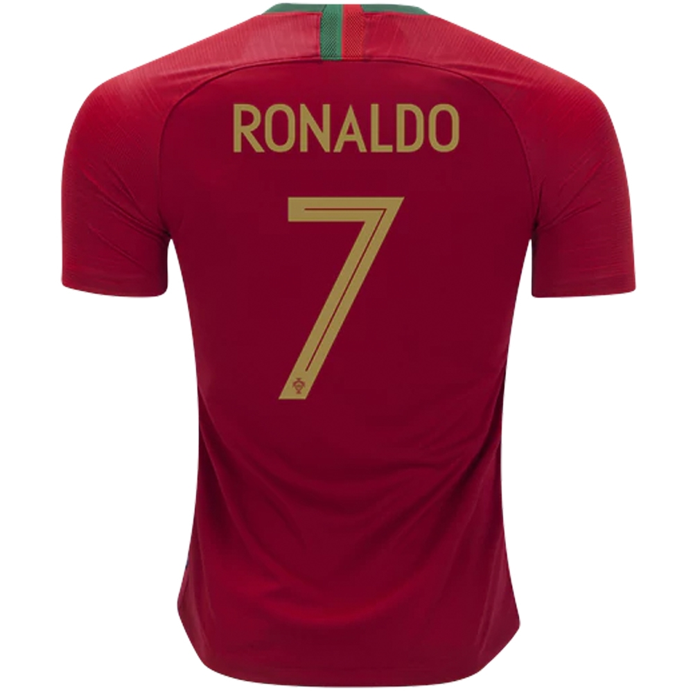new arrival 97f20 63102 Nike Portugal 'RONALDO 7' Home Stadium Jersey '18-'19 (Gym Red)