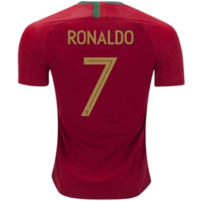 Nike Portugal 'RONALDO 7' Home Stadium Jersey '18-'19 (Gym Red)