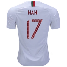 Nike Portugal 'NANI 17' Away Vapor Match Jersey '18-'19 (White/Gym Red)