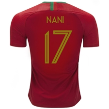 Nike Portugal 'NANI 17' Home Vapor Match Jersey '18-'19 (Gym Red)