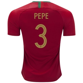 Nike Portugal 'PEPE 3' Home Vapor Match Jersey '18-'19 (Gym Red)