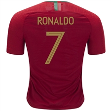 Nike Portugal 'RONALDO 7' Home Vapor Match Jersey '18-'19 (Gym Red)